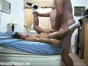Asian hooker fucking hard fat hubby