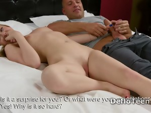 Excited Blonde Virgin Anna Palatka Gives Amazing Handjob